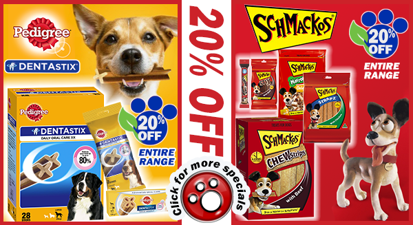 20% OFF Dentastix and Schmackos
