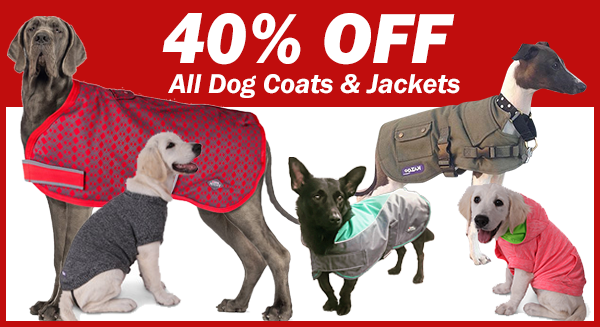 40% off ALL Dog Coats & Jackets