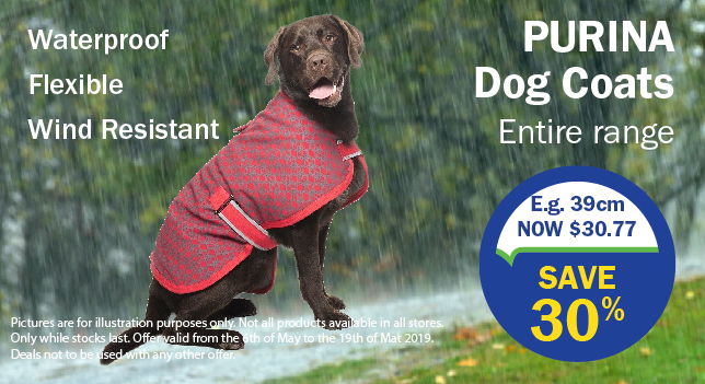20% off Purina Dog Coats