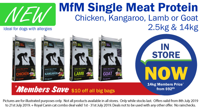 Meals for Mutts New Single Meat Varieties