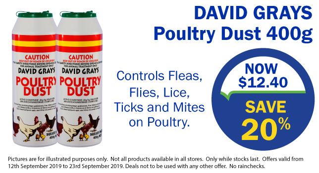 20% off Poultry Dust