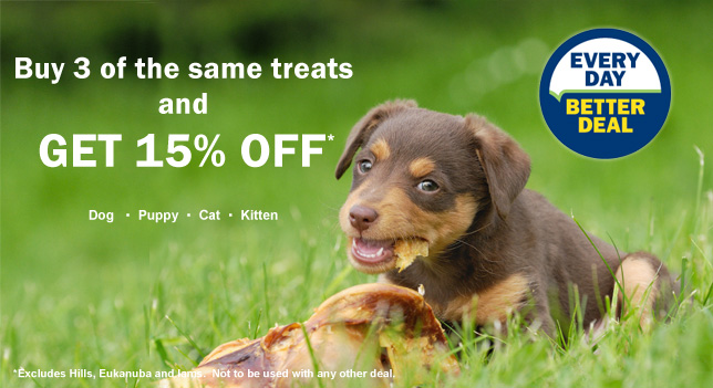 15% off treats
