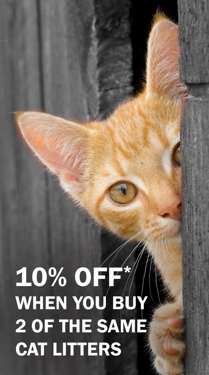 10% Off when you buy 2 of the same cat litters